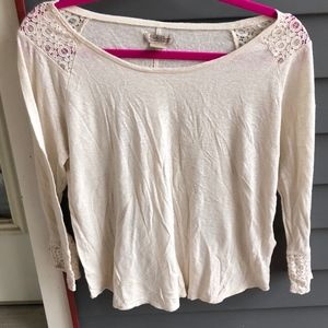 Lucky Brand white / cream long sleeves top L